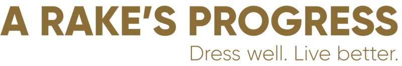 Logo of A Rake's Progress blog about ethical and sustainable menswear